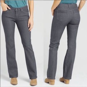Prana Jada Gray Regular Inseam Bootcut Jeans
